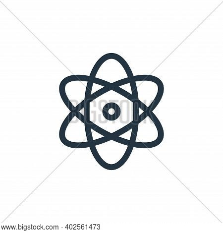 physics icon isolated on white background. physics icon thin line outline linear physics symbol for