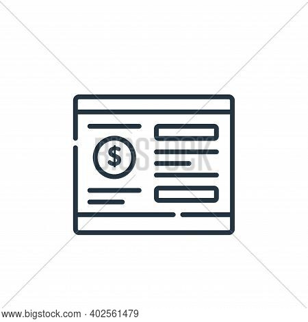 bank account icon isolated on white background. bank account icon thin line outline linear bank acco