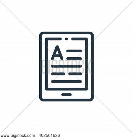 Ebook Vector Icon Isolated On White Background.