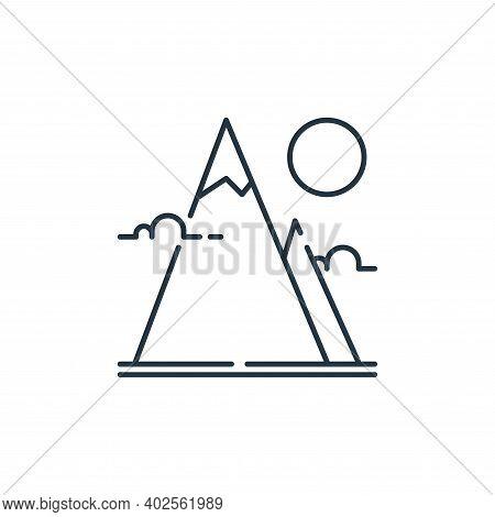 mountain icon isolated on white background. mountain icon thin line outline linear mountain symbol f