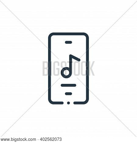 music app icon isolated on white background. music app icon thin line outline linear music app symbo