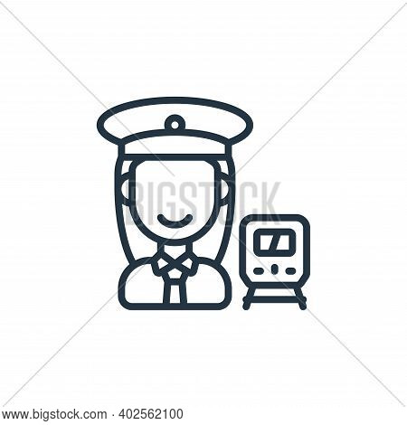 conductor icon isolated on white background. conductor icon thin line outline linear conductor symbo