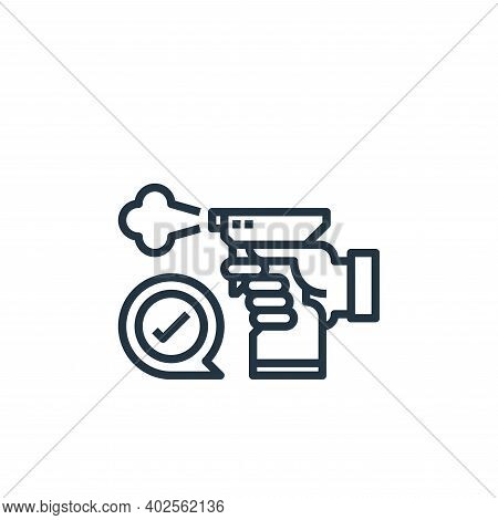 disinfect icon isolated on white background. disinfect icon thin line outline linear disinfect symbo