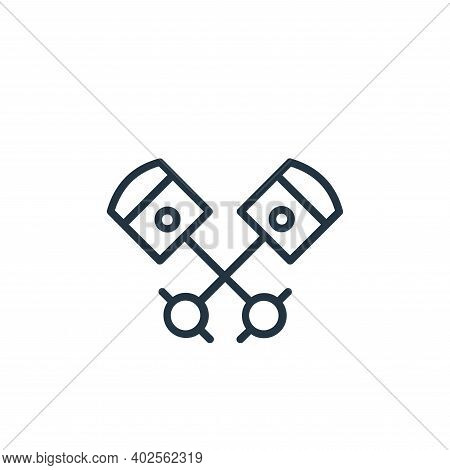 pistons icon isolated on white background. pistons icon thin line outline linear pistons symbol for