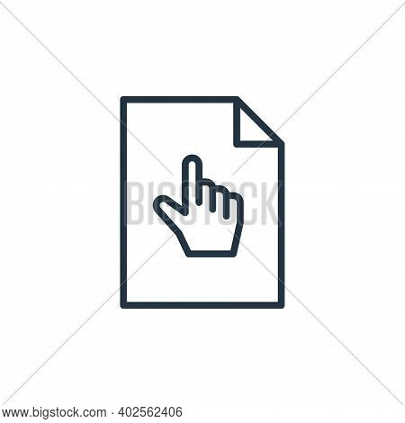 click icon isolated on white background. click icon thin line outline linear click symbol for logo,