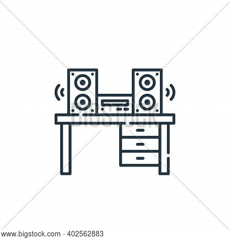 sound system icon isolated on white background. sound system icon thin line outline linear sound sys