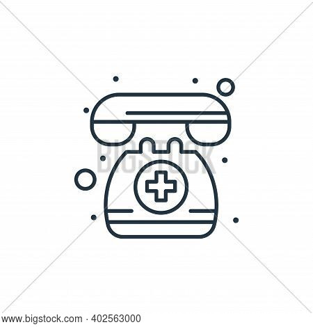 emergency call icon isolated on white background. emergency call icon thin line outline linear emerg