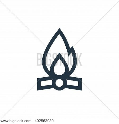 bonfire icon isolated on white background. bonfire icon thin line outline linear bonfire symbol for