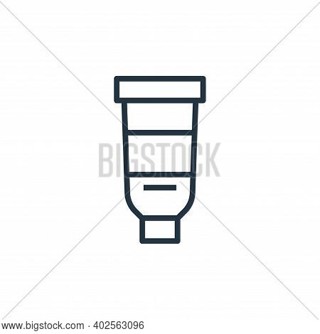 toothpaste icon isolated on white background. toothpaste icon thin line outline linear toothpaste sy