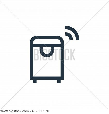 smart trash icon isolated on white background. smart trash icon thin line outline linear smart trash