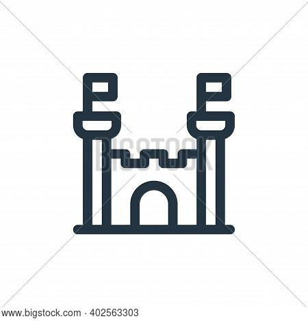 castle icon isolated on white background. castle icon thin line outline linear castle symbol for log