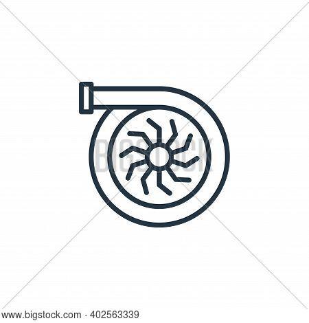 turbo engine icon isolated on white background. turbo engine icon thin line outline linear turbo eng