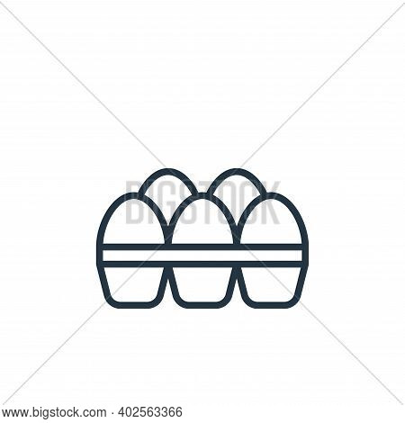eggs icon isolated on white background. eggs icon thin line outline linear eggs symbol for logo, web