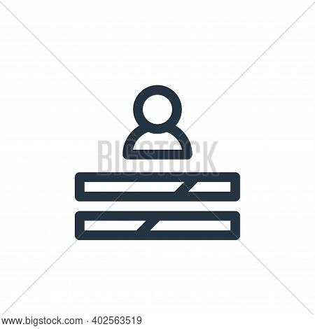 skills icon isolated on white background. skills icon thin line outline linear skills symbol for log