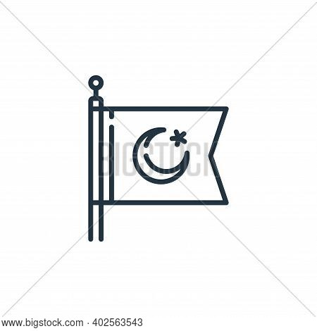 flag icon isolated on white background. flag icon thin line outline linear flag symbol for logo, web