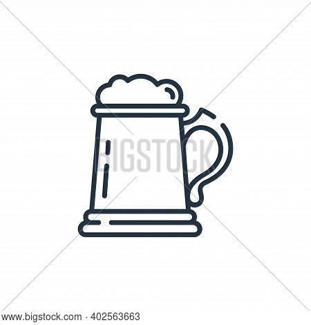 beer mug icon isolated on white background. beer mug icon thin line outline linear beer mug symbol f
