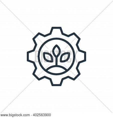 sustainable energy icon isolated on white background. sustainable energy icon thin line outline line