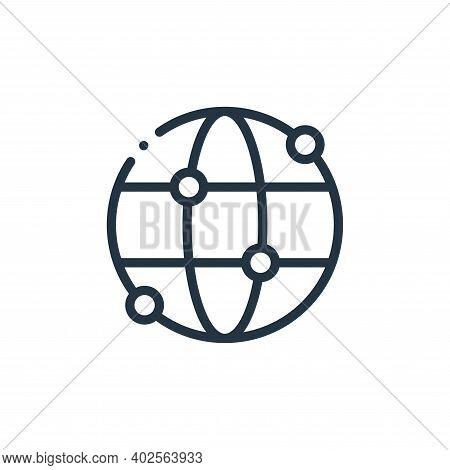 worldwide icon isolated on white background. worldwide icon thin line outline linear worldwide symbo