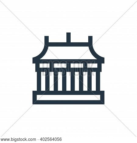 temple icon isolated on white background. temple icon thin line outline linear temple symbol for log