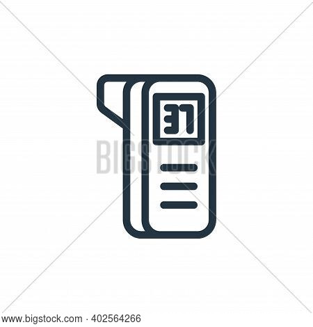 thermometer icon isolated on white background. thermometer icon thin line outline linear thermometer