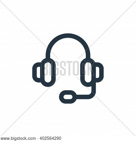 headphones icon isolated on white background. headphones icon thin line outline linear headphones sy