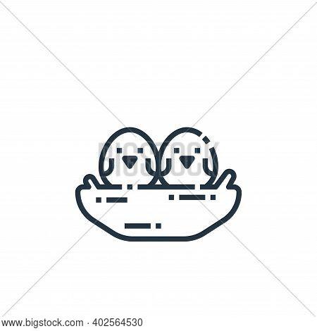 bird icon isolated on white background. bird icon thin line outline linear bird symbol for logo, web