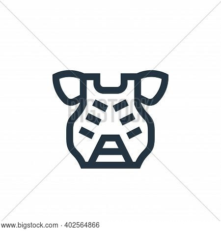 chest guard icon isolated on white background. chest guard icon thin line outline linear chest guard