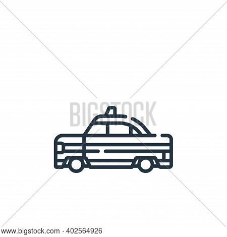 taxi icon isolated on white background. taxi icon thin line outline linear taxi symbol for logo, web