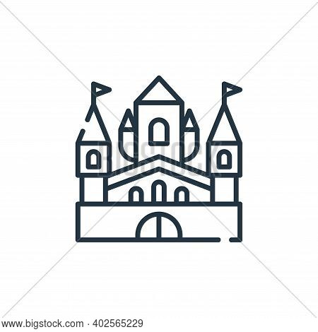 palace icon isolated on white background. palace icon thin line outline linear palace symbol for log