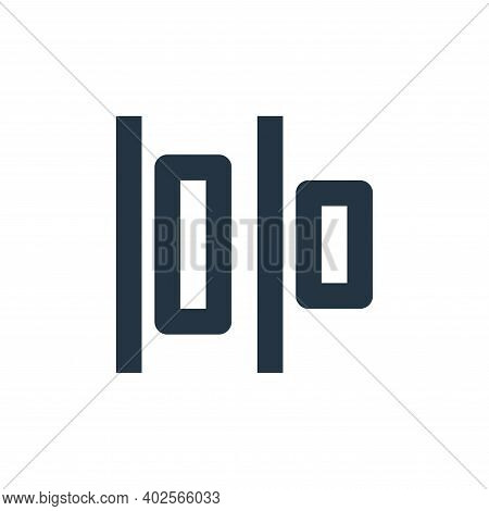 align icon isolated on white background. align icon thin line outline linear align symbol for logo,
