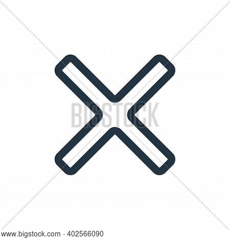 cancel icon isolated on white background. cancel icon thin line outline linear cancel symbol for log