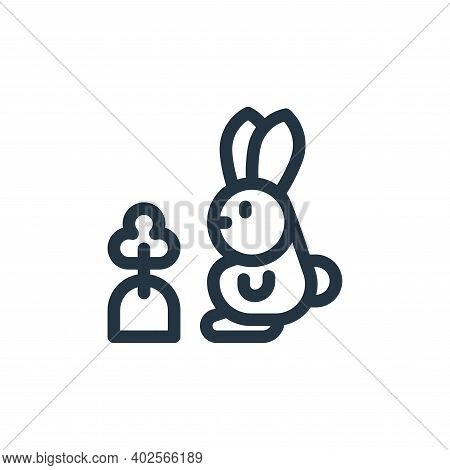rabbit icon isolated on white background. rabbit icon thin line outline linear rabbit symbol for log