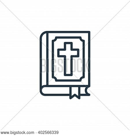 bible icon isolated on white background. bible icon thin line outline linear bible symbol for logo,