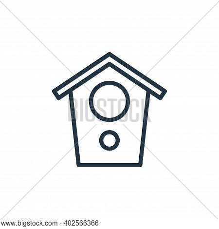 bird house icon isolated on white background. bird house icon thin line outline linear bird house sy
