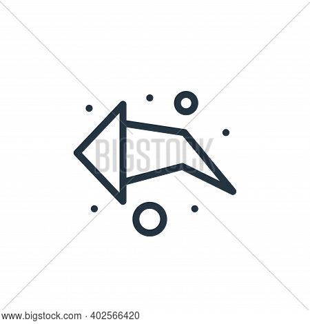 arrow left icon isolated on white background. arrow left icon thin line outline linear arrow left sy