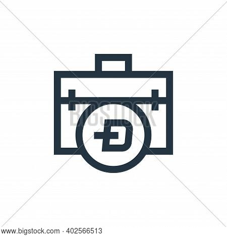 briefcase icon isolated on white background. briefcase icon thin line outline linear briefcase symbo