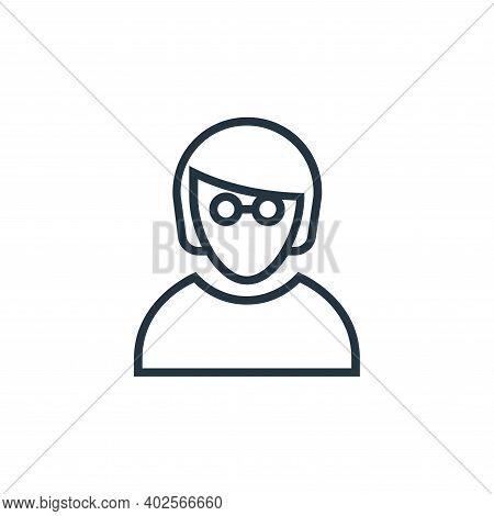 employee icon isolated on white background. employee icon thin line outline linear employee symbol f