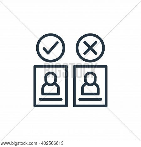 decision icon isolated on white background. decision icon thin line outline linear decision symbol f