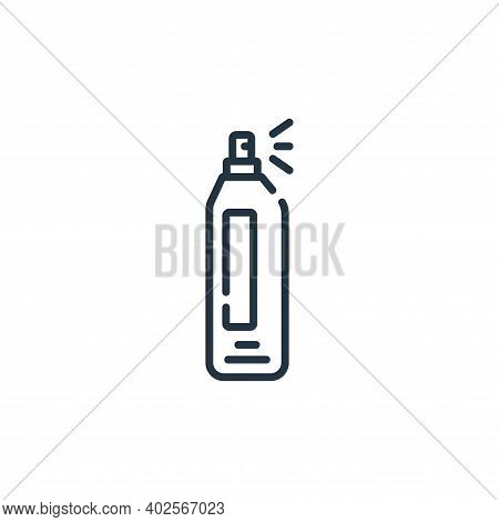 hair spray icon isolated on white background. hair spray icon thin line outline linear hair spray sy