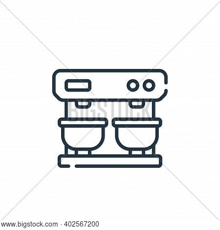 coffee machine icon isolated on white background. coffee machine icon thin line outline linear coffe