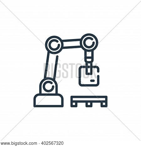 robotic arm icon isolated on white background. robotic arm icon thin line outline linear robotic arm