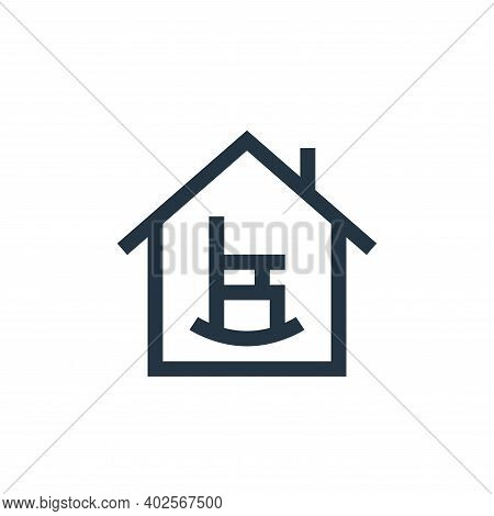 retirement home icon isolated on white background. retirement home icon thin line outline linear ret