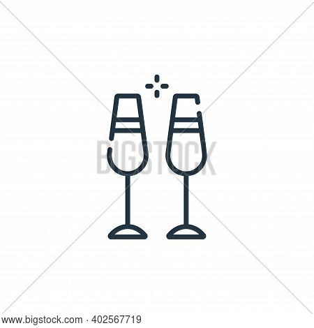 cocktails icon isolated on white background. cocktails icon thin line outline linear cocktails symbo