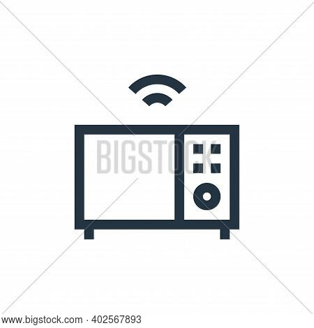 microwave icon isolated on white background. microwave icon thin line outline linear microwave symbo