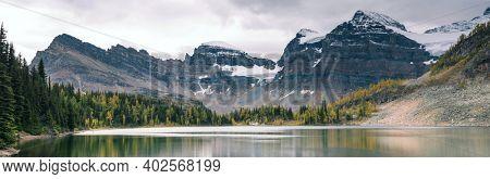 Amazing mountain landscapes in Mount Assiniboine Provincial Park, British Columbia, Canada  Autumn season