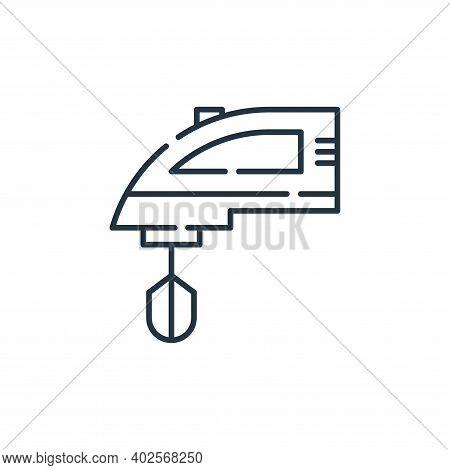 mixer icon isolated on white background. mixer icon thin line outline linear mixer symbol for logo,
