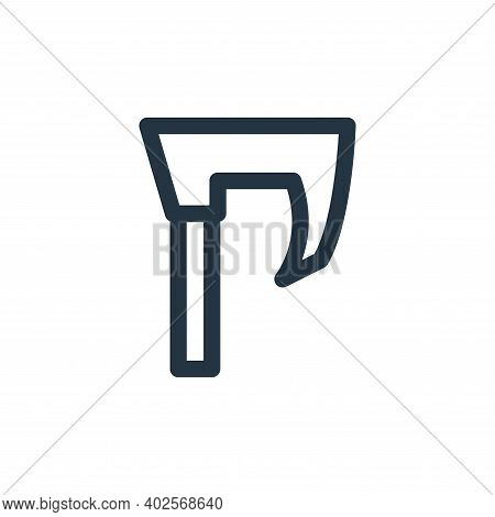 axe icon isolated on white background. axe icon thin line outline linear axe symbol for logo, web, a