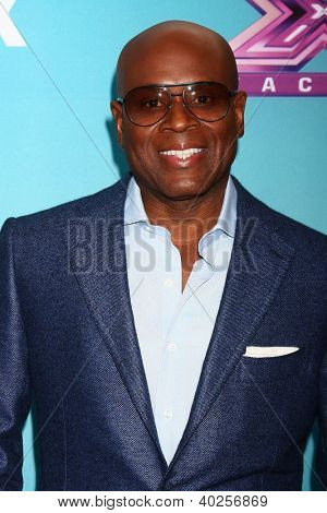 .LOS ANGELES - DEC 17:  L.A. Reid at the 'X Factor' Season Finale Press Conference at CBS Television City on December 17, 2012 in Los Angeles, CA