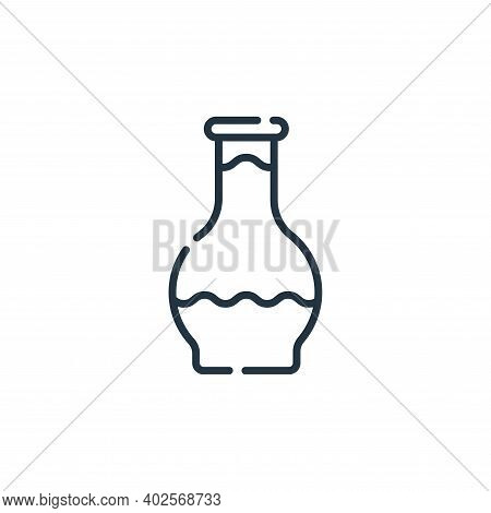 glass icon isolated on white background. glass icon thin line outline linear glass symbol for logo,