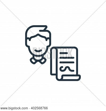 contractor icon isolated on white background. contractor icon thin line outline linear contractor sy
